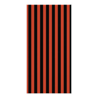 Thin Stripes - Black and Dark Pastel Red Card