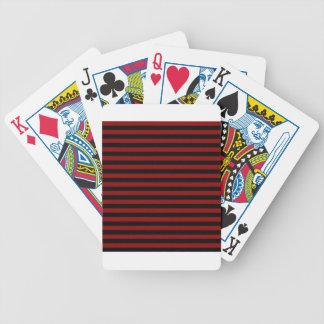 Thin Stripes - Black and Dark Red Poker Deck