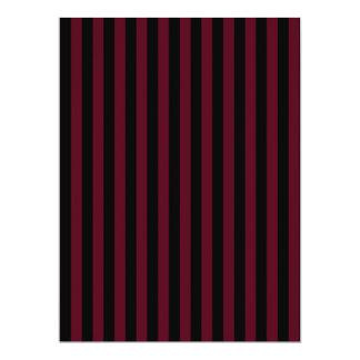 Thin Stripes - Black and Dark Scarlet Card