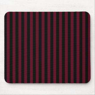 Thin Stripes - Black and Dark Scarlet Mouse Pad