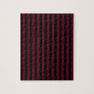 Thin Stripes - Black and Dark Scarlet Puzzles