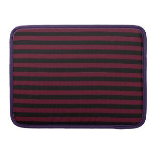 Thin Stripes - Black and Dark Scarlet Sleeves For MacBook Pro