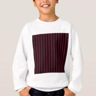Thin Stripes - Black and Dark Scarlet Sweatshirt