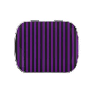 Thin Stripes - Black and Dark Violet