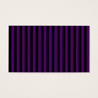 Thin Stripes - Black and Dark Violet Business Card