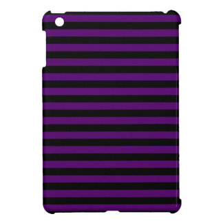 Thin Stripes - Black and Dark Violet Cover For The iPad Mini