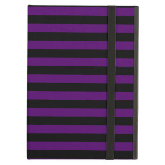 Thin Stripes - Black and Dark Violet iPad Air Cases