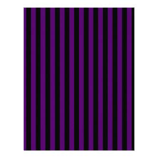 Thin Stripes - Black and Dark Violet Letterhead
