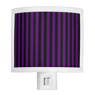 Thin Stripes - Black and Dark Violet Nite Lights