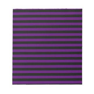 Thin Stripes - Black and Dark Violet Notepad
