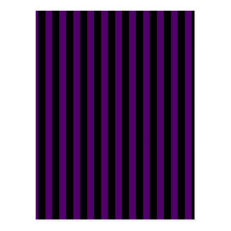 Thin Stripes - Black and Dark Violet Postcard