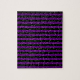 Thin Stripes - Black and Dark Violet Puzzles
