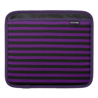 Thin Stripes - Black and Dark Violet Sleeve For iPads