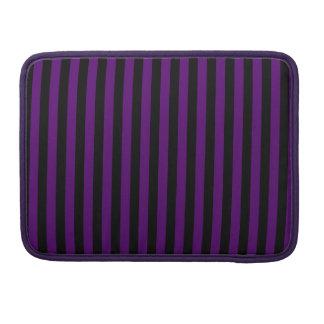 Thin Stripes - Black and Dark Violet Sleeve For MacBooks