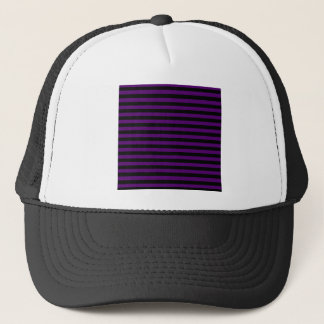 Thin Stripes - Black and Dark Violet Trucker Hat