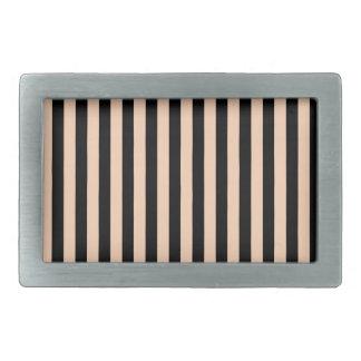 Thin Stripes - Black and Deep Peach Belt Buckle