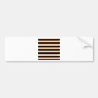 Thin Stripes - Black and Deep Peach Bumper Sticker