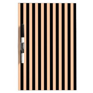Thin Stripes - Black and Deep Peach Dry Erase Board