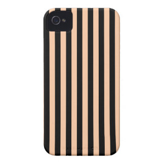 Thin Stripes - Black and Deep Peach iPhone 4 Covers