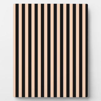 Thin Stripes - Black and Deep Peach Plaque