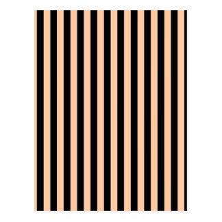 Thin Stripes - Black and Deep Peach Postcard