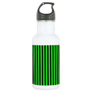 Thin Stripes - Black and Electric Green 532 Ml Water Bottle