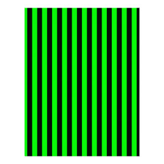 Thin Stripes - Black and Electric Green Customized Letterhead