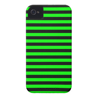 Thin Stripes - Black and Electric Green iPhone 4 Case-Mate Cases