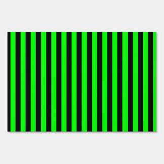 Thin Stripes - Black and Electric Green Sign