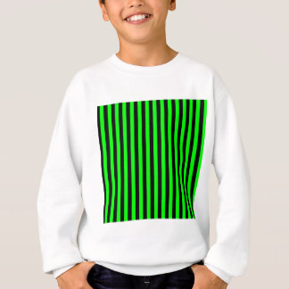 Thin Stripes - Black and Electric Green Sweatshirt
