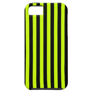 Thin Stripes - Black and Fluorescent Yellow Case For The iPhone 5