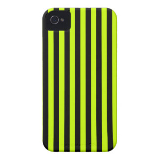 Thin Stripes - Black and Fluorescent Yellow Case-Mate iPhone 4 Case