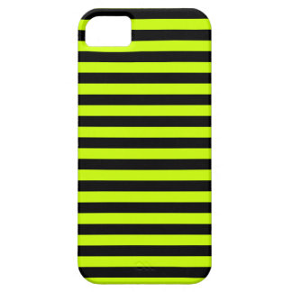 Thin Stripes - Black and Fluorescent Yellow iPhone 5 Cases