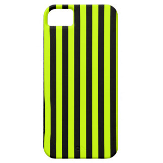 Thin Stripes - Black and Fluorescent Yellow iPhone 5 Covers