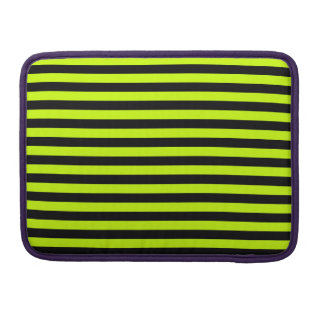 Thin Stripes - Black and Fluorescent Yellow Sleeves For MacBook Pro