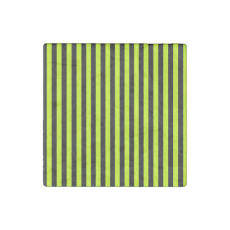 Thin Stripes - Black and Fluorescent Yellow Stone Magnets