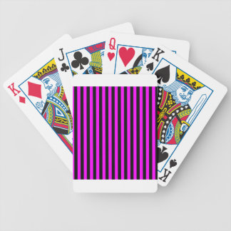 Thin Stripes - Black and Fuchsia Bicycle Playing Cards