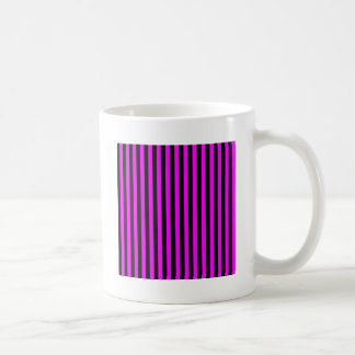 Thin Stripes - Black and Fuchsia Coffee Mug