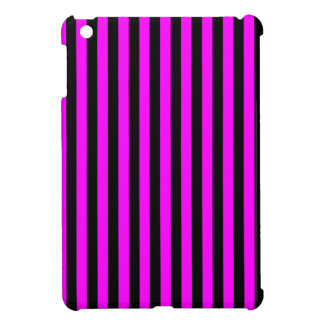 Thin Stripes - Black and Fuchsia iPad Mini Covers