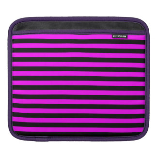 Thin Stripes - Black and Fuchsia iPad Sleeves