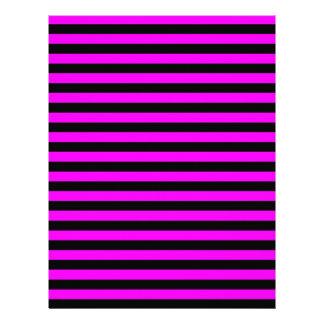 Thin Stripes - Black and Fuchsia Letterhead