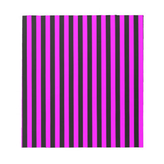Thin Stripes - Black and Fuchsia Notepad