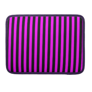 Thin Stripes - Black and Fuchsia Sleeve For MacBooks