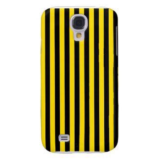 Thin Stripes - Black and Golden Yellow