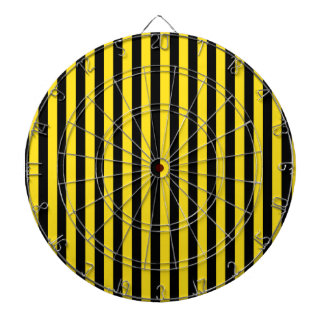 Thin Stripes - Black and Golden Yellow Dart Boards
