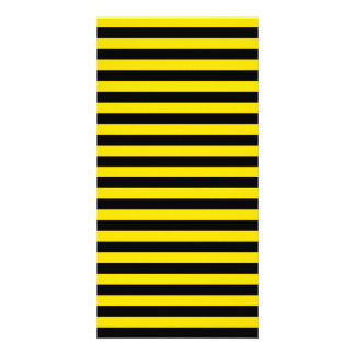 Thin Stripes - Black and Golden Yellow Photo Card