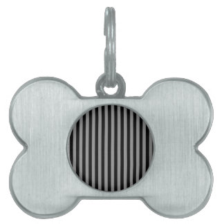 Thin Stripes - Black and Gray Pet Tag