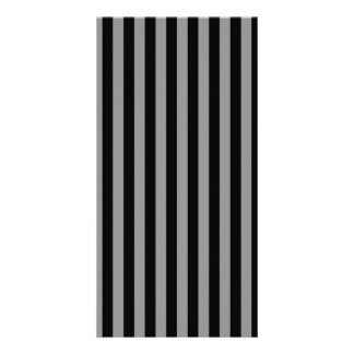 Thin Stripes - Black and Gray Picture Card