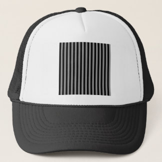 Thin Stripes - Black and Gray Trucker Hat