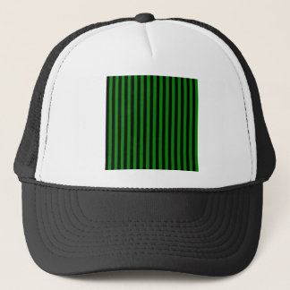 Thin Stripes - Black and Green Trucker Hat